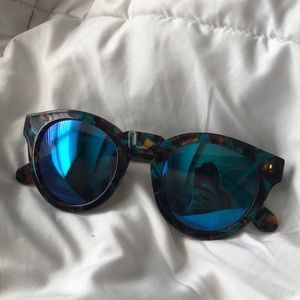 DIFF dime motley + blue mirror lens